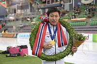 SPEEDSKATING: HAMAR: Vikingskipet, 29-02-2020, ISU World Speed Skating Championships, Sprint, World Champion, Tatsuya Shinhama (JPN), ©photo Martin de Jong