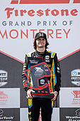 #26: Colton Herta, Andretti Autosport w/ Curb-Agajanian Honda, podium