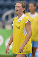 Chicago, IL - Wednesday Sept. 07, 2016: Arin Gilliland prior to a regular season National Women's Soccer League (NWSL) match between the Chicago Red Stars and FC Kansas City at Toyota Park.