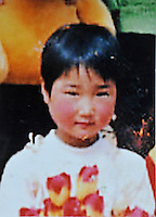 Wang Tingting (8), born in July 20, 1997. Abducted by a 20-year-old looking male with flowers on a motorbike after school at the lunch break on 22 Mar 2005.   Girls in China are increasingly targeted and stolen as there is a shortage of wives as the gender imbalance widens with 120 boys for every 100 girls..PHOTO BY SINOPIX