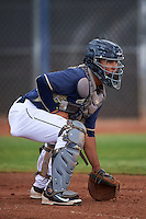 San Diego Padres Ricardo Rodriguez (55) during practice before an instructional league game against the Milwaukee Brewers on October 6, 2015 at the Peoria Sports Complex in Peoria, Arizona.  (Mike Janes/Four Seam Images)