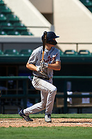 Detroit Tigers Parker Meadows (17) bats during a Florida Instructional League intrasquad game on October 17, 2020 at Joker Marchant Stadium in Lakeland, Florida.  (Mike Janes/Four Seam Images)