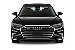 Car photography straight front view of a 2019 Audi A8-L - 4 Door Sedan Front View