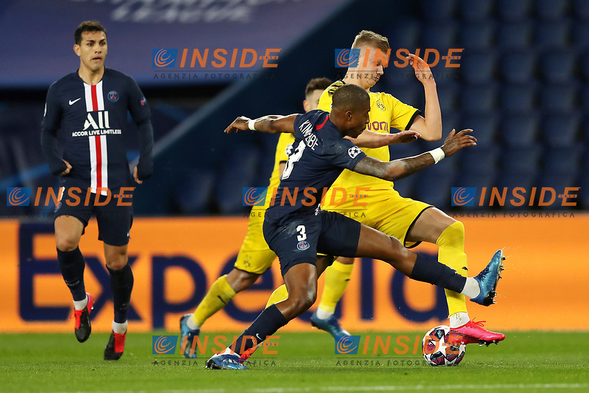 Paris St Germain's Presnel Kimpembe in action with Borussia Dortmund's Erling Braut Haaland    <br /> Photo Pool/Panoramic/Insidefoto