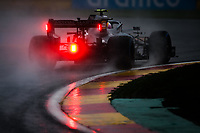 29th August 2021; Spa Francorchamps, Stavelot, Belgium: FIA F1 Grand Prix of Belgium,  race day: 05 VETTEL Sebastian (ger), Aston Martin F1 AMR21 during the formation laps in heavy rain before cancellation of the race due to standing water