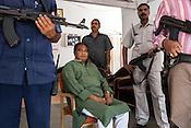 Mahendra Karma (centre), the founder of Salwa Judum poses for a photo in Dantewara in Chhattisgarh, India. Photo: Sanjit Das/Panos