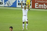 Santos (SP), 13.03.2020 - Santos-Ituano - O jogador Lucas Braga comemora gol. Partida entre Santos e Ituano valida pela 4. rodada do Campeonato Paulista neste sábado (13) no estadio da Vila Belmiro em Santos.