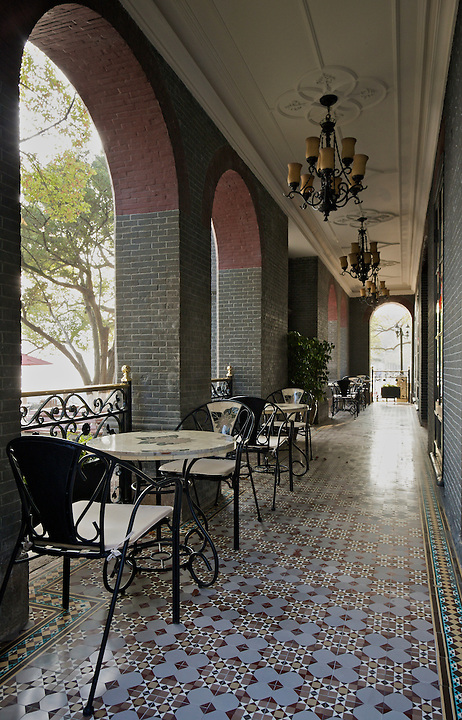 Outside Dining Area Inhabited This Consular Colonnade In Wenzhou (Wenchow).<br /> <br /> (Update June 2018: Sadly the building is now closed and is in very poor condition.)