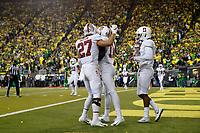 EUGENE, OR - September 22, 2018: Stanford Football wins over Oregon in overtime, 38-31 at Autzen Stadium.