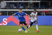 SAN JOSE, CA - MAY 1: Eric Remedi #5 of the San Jose Earthquakes during a game between D.C. United and San Jose Earthquakes at PayPal Park on May 1, 2021 in San Jose, California.