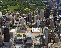 aerial photograph Lincoln Center, Avery Fisher Hall, Central Park, Manhattan, New York City