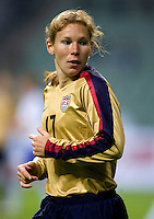 Lori Chalupny . The U.S. defeated Finland, 4-1 during the Four Nations Tournament in  Guangzhou, China on January 18, 2008.
