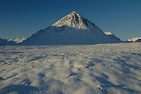 Buachaille Etive Mor at dawn during winter, Highlands<br /> <br /> Copyright www.scottishhorizons.co.uk/Keith Fergus 2011 All Rights Reserved