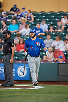Cameron Rupp (21) of the Round Rock Express steps up to bat against the Omaha Storm Chasers at Werner Park on May 27, 2018 in Papillion , Nebraska. Round Rock defeated Omaha 8-3. (Stephen Smith/Four Seam Images)