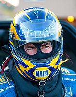 Jul 19, 2019; Morrison, CO, USA; NHRA funny car driver Ron Capps during qualifying for the Mile High Nationals at Bandimere Speedway. Mandatory Credit: Mark J. Rebilas-USA TODAY Sports