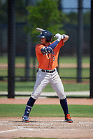 Houston Astros Seth Beer (3) bats during a Minor League Spring Training Intrasquad game on March 28, 2019 at the FITTEAM Ballpark of the Palm Beaches in West Palm Beach, Florida.  (Mike Janes/Four Seam Images)
