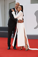 """VENICE, ITALY - SEPTEMBER 10: Leonardo Blanchard and Shaila Gatta on the red carpet for the movie """"Un Autre Monde"""" during the 78th Venice International Film Festival on September 10, 2021 in Venice, Italy.<br /> CAP/GOL<br /> ©GOL/Capital Pictures"""