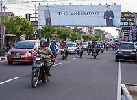 Yogyakarta, Java, Indonesia.  Street Scene,  Jl. Laksda Adisucipto Street.