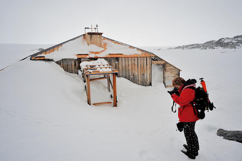 Something has engaged the photographer other than Mawson's Hut!