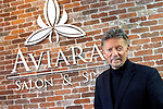 MIDDLEBURY CT. - 15 January 2020-011521SV06-Bob Accutera works at Aviara Salon in Middlebury Friday.<br /> Steven Valenti Republican-American