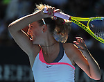 January 27, 2010.Victoria Azarenka, of Belarus, in action during her 4-6, 7-6, 6-2 loss to the USA's Venus Williams in the quarter final of The Australian Open, Melbourne Park, Melbourne, Australia.
