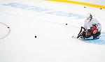 Corbin Watson, Sochi 2014 - Para Ice Hockey // Para-hockey sur glace.<br /> Canada's Para Ice Hockey team practices before the games begin // L'équipe canadienne de para hockey sur glace s'entraîne avant le début des matchs. 01/03/2014.