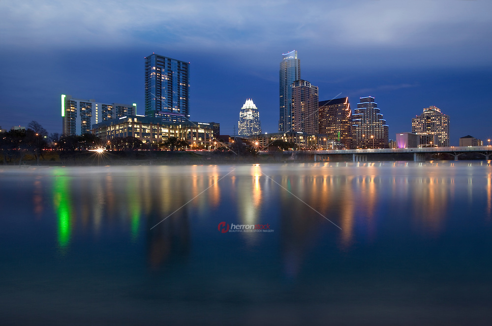 Long, clear nights on Austin's Lady Bird Lake produce substantial surface cooling by dawn and warm, lake, surfaces provide the ideal situation for fog formation.
