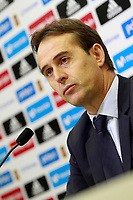 The coach of the national soccer team of Spain, Julen Lopetegui, presents the list of players for international matches against Costa Rica and Russia. November 3,2017. (ALTERPHOTOS/Acero) /NortePhoto.com