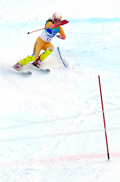 Lauren Woolstencroft, Vancouver 2010 - Para Alpine Skiing // Ski para-alpin.<br /> Lauren Woolstencroft competes in Para Alpine Skiing // Lauren Woolstencroft participe en ski para-alpin. 15/03/2010.