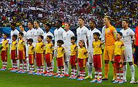 England team sing the national anthem