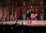 "Host Bryan Terrell Clark on stage during The Rockefeller Foundation and The Gilder Lehrman Institute of American History sponsored High School student #EduHam matinee performance of ""Hamilton"" at the Richard Rodgers Theatre on October 24, 2018 in New York City."