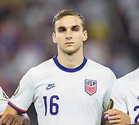 DALLAS, TX - JULY 25: James Sands #16 of the United States during a game between Jamaica and USMNT at AT&T Stadium on July 25, 2021 in Dallas, Texas.