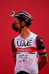 Davide Formolo (ITA) UAE Team Emirates at sign on before the start of Stage 5 of the 2021 UAE Tour running 170km from Fujairah to Jebel Jais, Fujairah, UAE. 25th February 2021.  <br /> Picture: Eoin Clarke   Cyclefile<br /> <br /> All photos usage must carry mandatory copyright credit (© Cyclefile   Eoin Clarke)