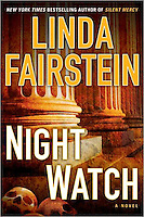NIGHT WATCH, By Linda Fairstein<br /> Copyright © 2012 by Fairstein Enterprises, L.L.C.<br /> <br /> Hardcover First Edition<br /> Published July 10, 2012 <br /> <br /> Dutton - Penguin Group (USA) Inc.<br /> Jacket Design and Photo Illustration:  Richard Hasselberger<br /> <br /> This cover illustration combines my photo of neo-classical courthouse columns (available for licensing from Getty Images, search for image # 109491603) with another photographer's photo of an ossuary of skulls in Cambodia from Danita Delimont/Getty Images.