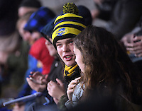 Fans in the grandstand during the Super Rugby quarterfinal match between the Hurricanes and Sharks at Westpac Stadium, Wellington, New Zealand on Saturday, 23 July 2016. Photo: Dave Lintott / lintottphoto.co.nz