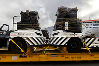New Electric transport vehicles being unloaded at CentrePort in Wellington, New Zealand on Thursday, 20 May 2021. Photo: Marty Melville / lintottphoto.co.nz