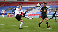 Bolton Wanderers' Ali Crawford crosses the ball<br /> <br /> Photographer Stephen White/CameraSport<br /> <br /> The EFL Sky Bet League Two - Bolton Wanderers v Oldham Athletic - Saturday 17th October 2020 - University of Bolton Stadium - Bolton<br /> <br /> World Copyright © 2020 CameraSport. All rights reserved. 43 Linden Ave. Countesthorpe. Leicester. England. LE8 5PG - Tel: +44 (0) 116 277 4147 - admin@camerasport.com - www.camerasport.com