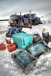 Fishing gear on ice