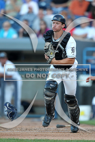 West Michigan Whitecaps catcher Rob Brantly (28) during a game vs. the South Bend Silver Hawks at Fifth Third Field in Comstock Park, Michigan August 16, 2010.   West Michigan defeated South Bend 3-2.  Photo By Mike Janes/Four Seam Images