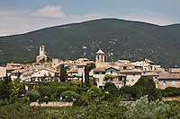 Europe/France/Provence-Alpes-Côte d'Azur/84/Vaucluse/Lubéron/Lourmarin: Le village au pied de la montagne du Lubéron