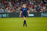 ORLANDO, FL - MARCH 05: Abby Dahlkemper #7 of the United States during a game between England and USWNT at Exploria Stadium on March 05, 2020 in Orlando, Florida.