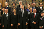 Spanish Royals King Felipe VI of Spain and Queen Letizia of Spain during a Royal Audience at Zarzuela Palace in Madrid, Spain. January 29, 2015. (ALTERPHOTOS/Victor Blanco)