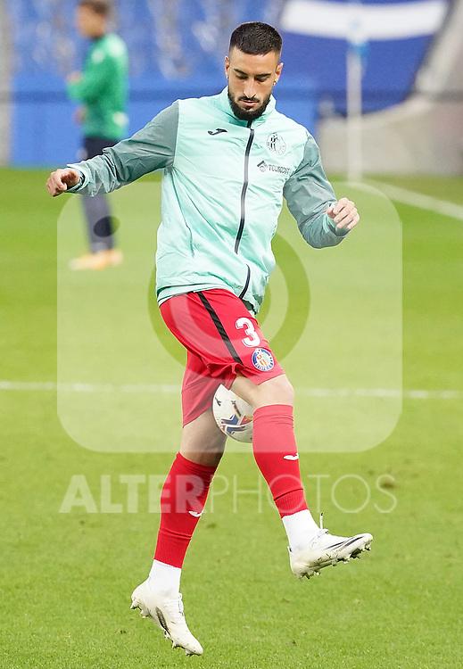 Getafe CF's Erick Cabaco during La Liga match. October 3, 2020. (ALTERPHOTOS/Acero)