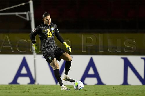 13th November 2020; Morumbi Stadium, Sao Paulo, Sao Paulo, Brazil; World Cup 2022 qualifiers; Brazil versus Venezuela; Ederson of Brazil