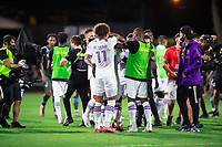LAKE BUENA VISTA, FL - AUGUST 06: Orlando City SC celebrate a victory during a game between Orlando City SC and Minnesota United FC at ESPN Wide World of Sports on August 06, 2020 in Lake Buena Vista, Florida.