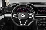 Car pictures of steering wheel view of a 2022 Volkswagen Taos SEL 5 Door SUV Steering Wheel