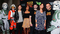 """CENTURY CITY, CA, USA - SEPTEMBER 27: """"Star Wars Rebels: Spark Of Rebellion"""" cast and crew members arrive at the Los Angeles Screening Of Disney XD's """"Star Wars Rebels: Spark Of Rebellion"""" held at the AMC Century City 15 Theatre on September 27, 2014 in Century City, California, United States. (Photo by Celebrity Monitor)"""