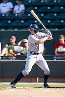 Cody Stubbs (30) of the Wilmington Blue Rocks at bat against the Winston-Salem Dash at BB&T Ballpark on July 6, 2014 in Winston-Salem, North Carolina.  The Dash defeated the Blue Rocks 7-1.   (Brian Westerholt/Four Seam Images)