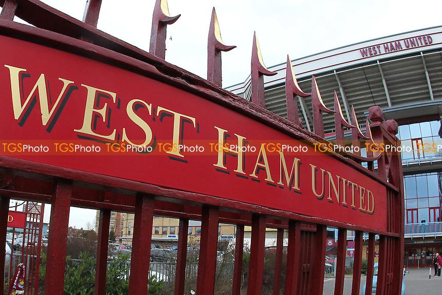 The John Lyall gates ahead of West Ham United Ladies vs Tottenham Hotspur Ladies, FA Women's Premier League Football at the Boleyn Ground, Upton Park
