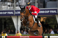 3rd October 2021;  Real Club de Polo, Barcelona, Spain; CSIO5 Longines FEI Jumping Nations Cup Final 2021; Daniel Deusser from Germany during the FEI Jumping Nations Cup Final 2021